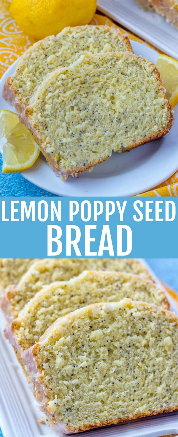 Moist, delicious and citrusy this Lemon Poppy Seed Bread is a great quick throw together sweet bread recipe to have on hand for when your sweet tooth kicks in!