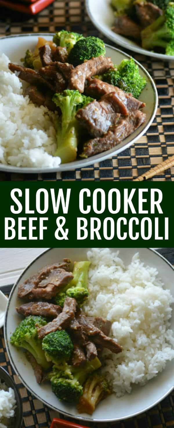 Comforting and delicious this Slow Cooker Beef and Broccoli recipe is an easy delicious takeout favorite that the whole family will love.