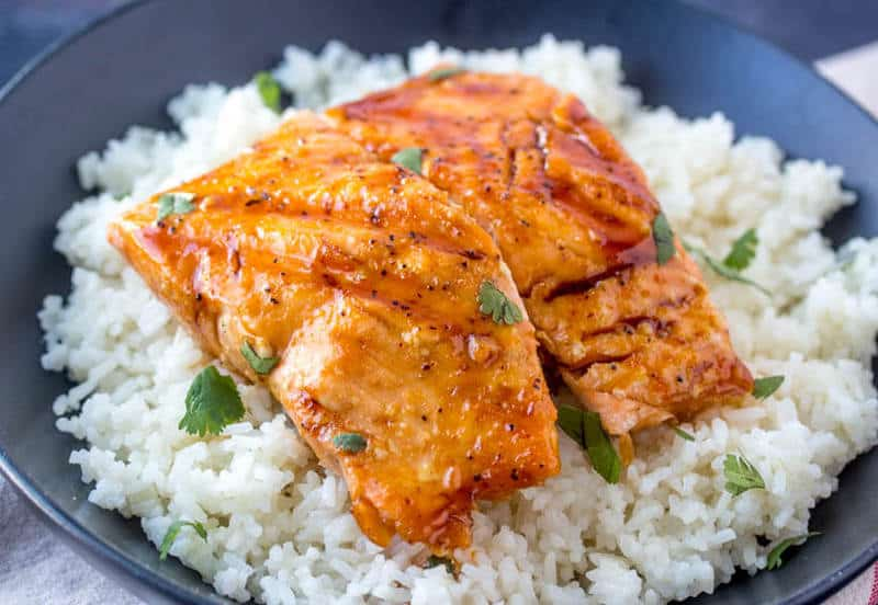 Grilled Honey Glazed Salmon