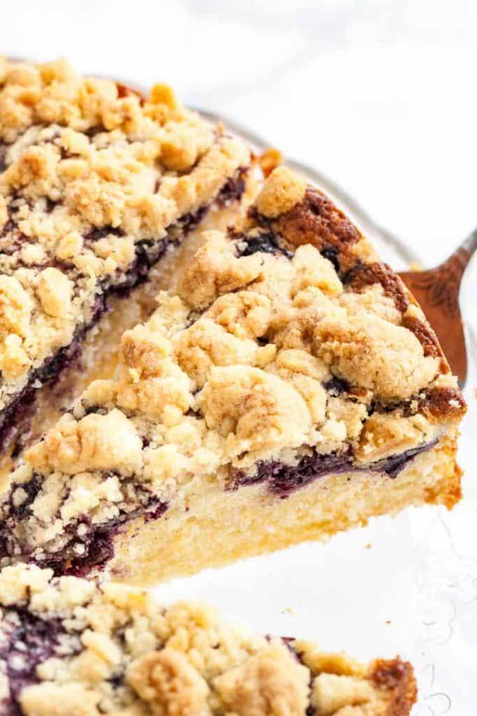 Lemon Blueberry Skillet Cake