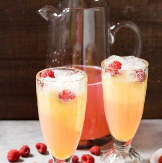 easy raspberry lemonade floats