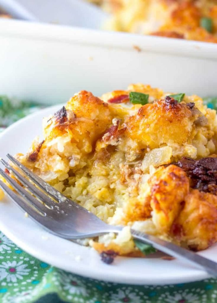 Breakfast Casserole with Tater Tots