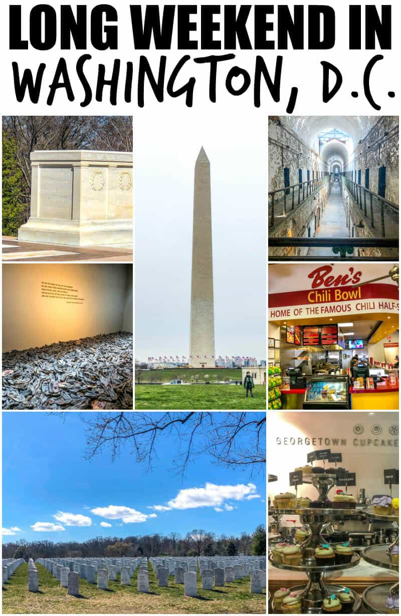 Think you need all the time in the world to explore one of Americas most historic cities? Think again! Here is my guide to a long weekend in Washington, D.C. #travel #getaway #tourist #tour #washingtondc #washington #philadelphia