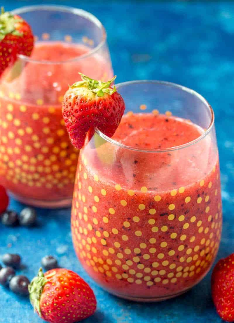 Frozen Berry Slushies