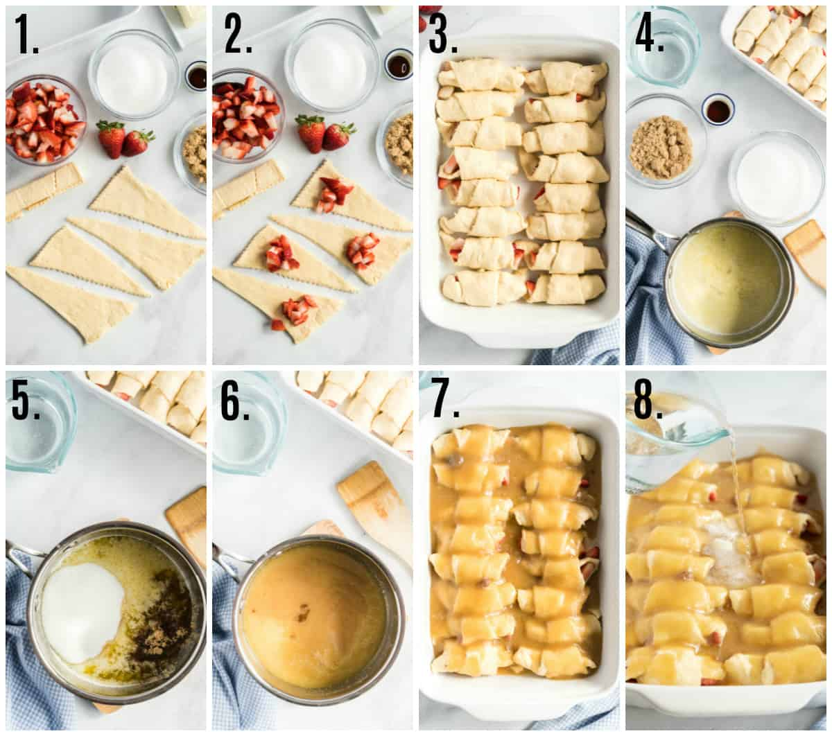 Step by step photos on how to make Strawberry Dumplings