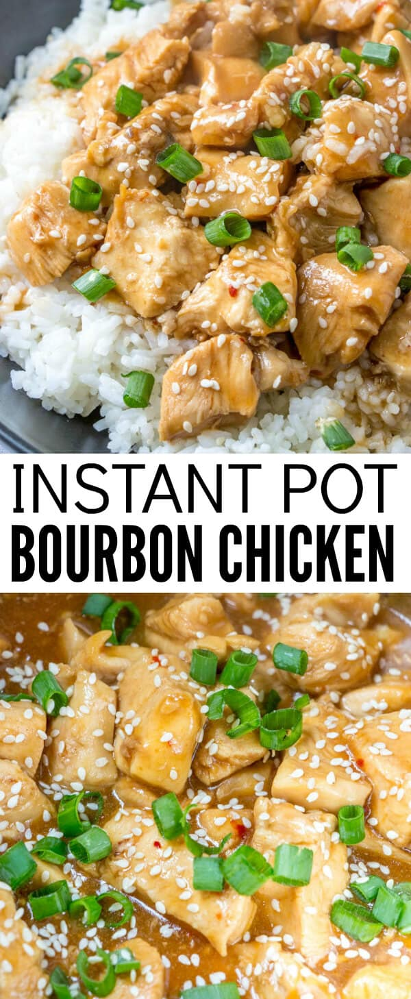 Easy, flavorful and quick this Instant Pot Bourbon Chicken takes all the flavors of your favorite takeout meal and lets you make it conveniently at home! #chinese #ethnic #bourbon #chicken #instantpot #bourbonchicken #easymeal #recipe