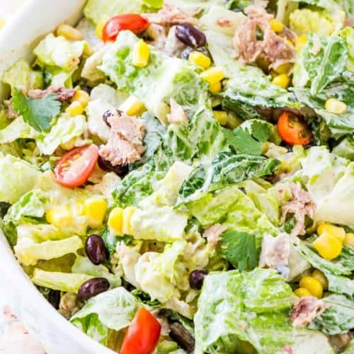 Southwest Tuna Chopped Salad A Crisp And Refreshing Salad Recipe
