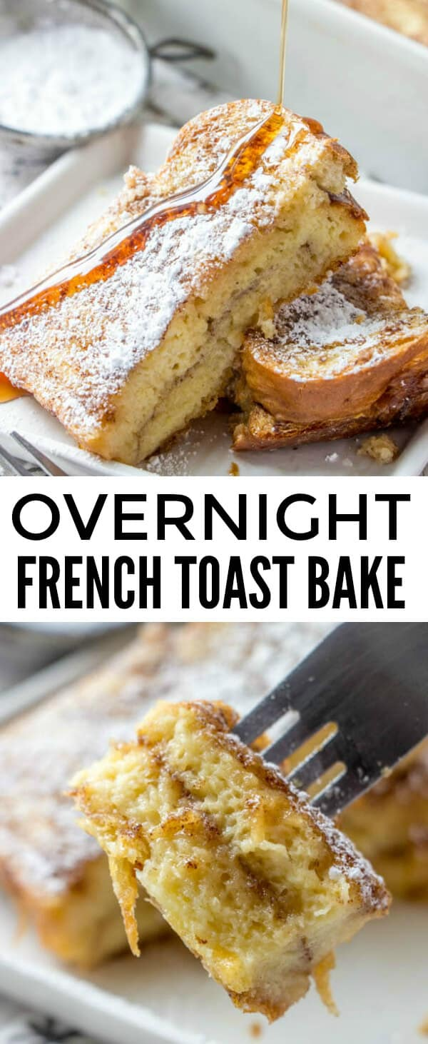Easy, flavorful and fun this Overnight French Toast Bake is a perfect breakfast or brunch recipe that takes minimal ingredients, kid-friendly and the perfect weekend meal idea. #breakfast #frenchtoast #frenchtoastbake #bread #brunch #syrup #overnightbake