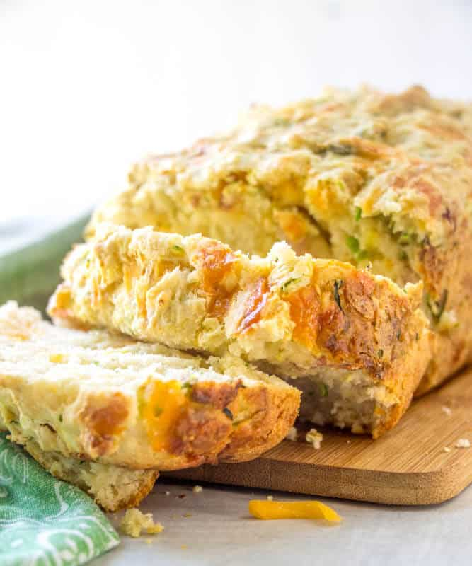 Cheesy Garlic Zucchini Bread Recipe