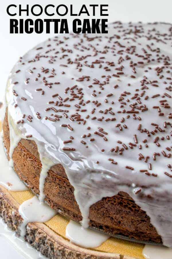 Chocolate Italian Ricotta Cake