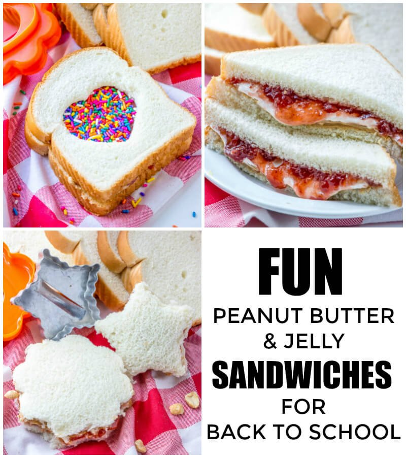 Looking for easy and tasty fun ways to satisfy your kids? These Fun Peanut Butter & Jelly Sandwiches for Back to School are the perfect easy ways to just throw some fun into a classic dish. #backtoschool #pb&j #sandwiches #peanutbutter #kidfriendly