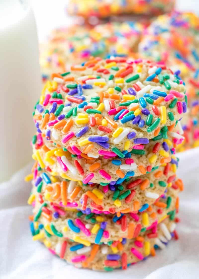 Chewy Sprinkle Cookies