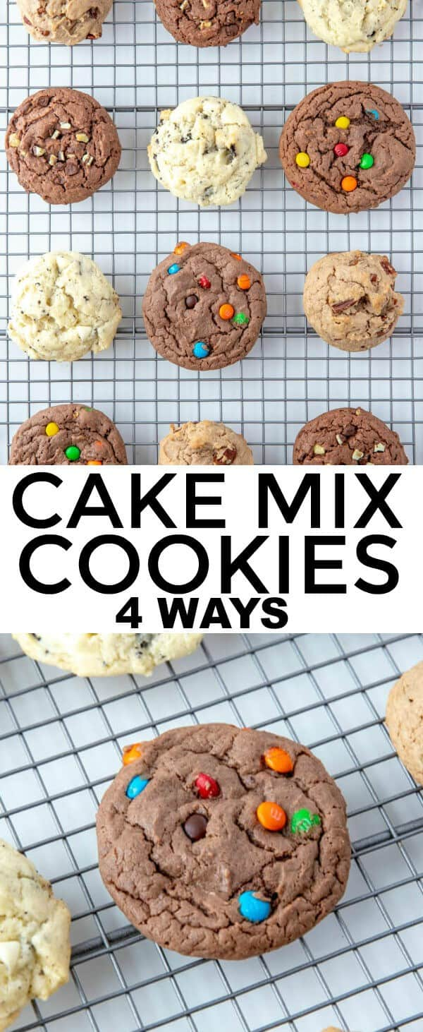 When you're craving cookies you cant help the feeling. These Cake Mix Cookies are fun, easy and you can make any flavor imaginable. #cookies #cakemix #holiday #chocolate #pecan #easyrecipe #baking #baker #recipe