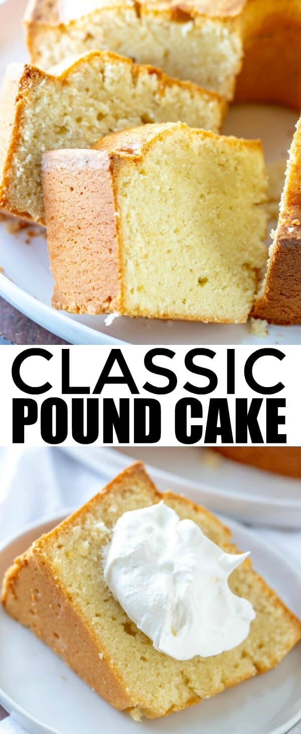 When it comes to cakes this Classic Pound Cake has always been a favorite, super simple with minimal ingredients makes this cake a winner. #cake #tornadoughalli #poundcake #dessert #easyrecipe #recipes #baking