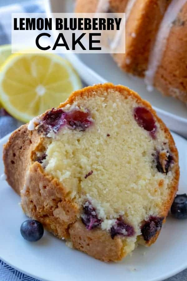 lemon blueberry cake Pinterest image