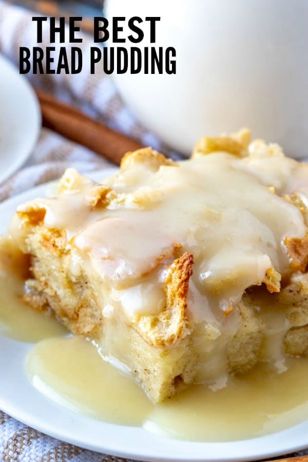 Bread Pudding Pinterest image