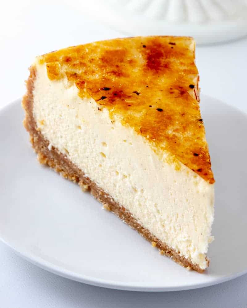 Creme Brûlée Cheesecake on plate