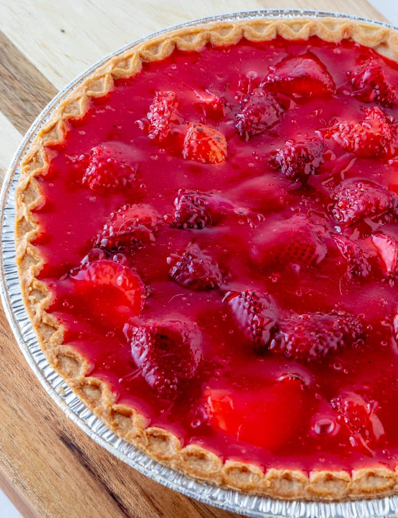 Strawberry pie whole pie