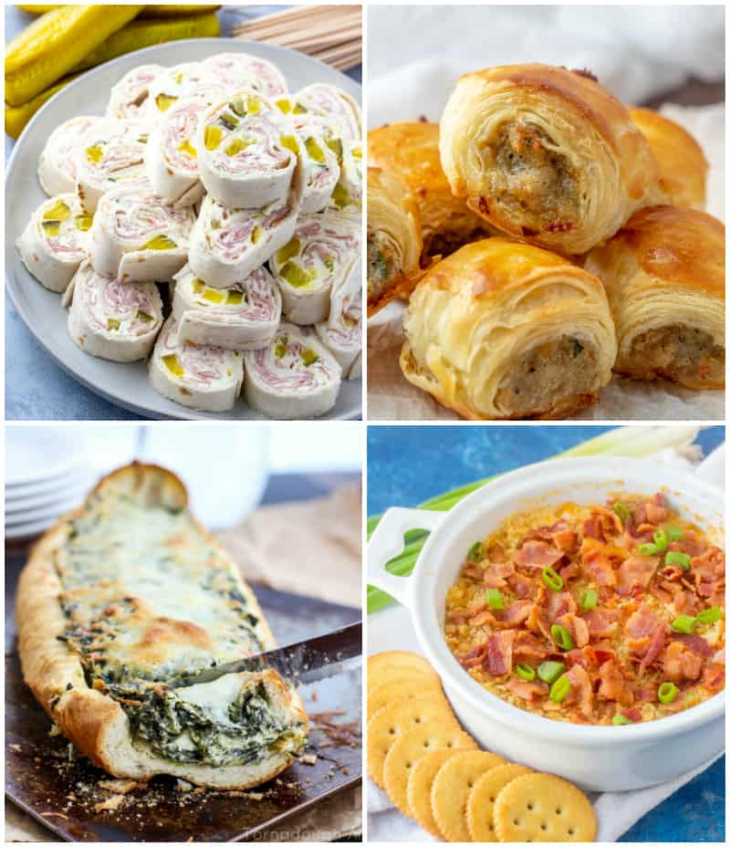 Collage of Easter Menu Appetizers