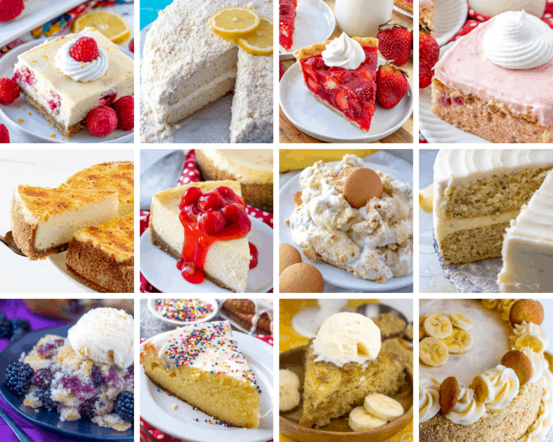 Collage of Easter Menu desserts