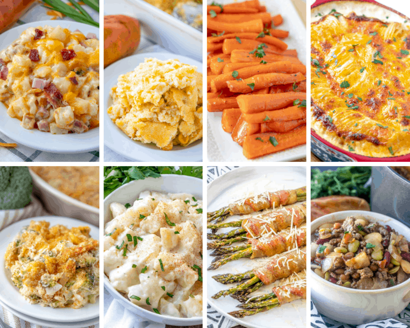 Collage of Easter Menu Side Dishes