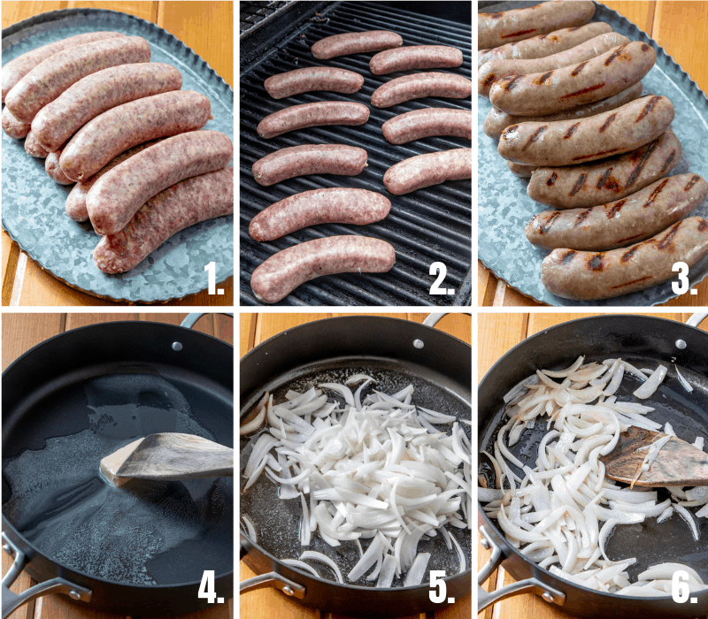 step by step photos on how to make beer brats