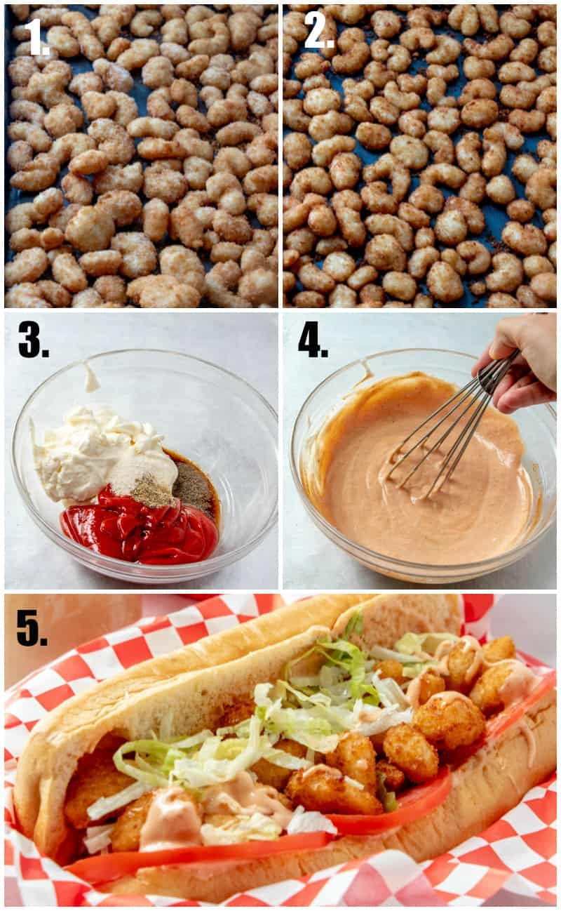Step by step photos on how to make Shrimp Po' Boys