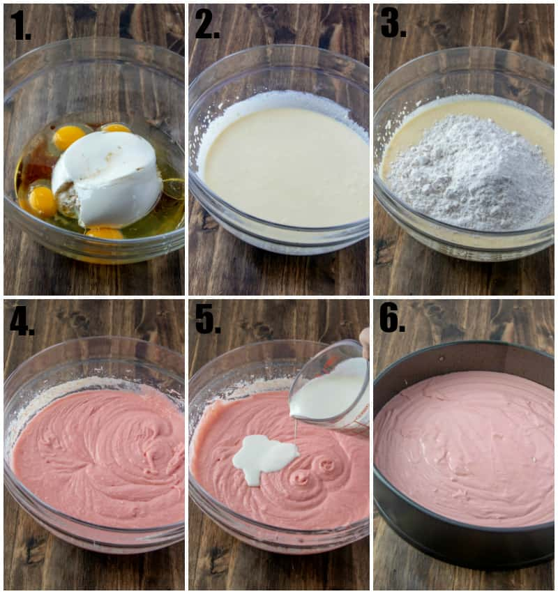 Step by step photos on how to make ricotta cake