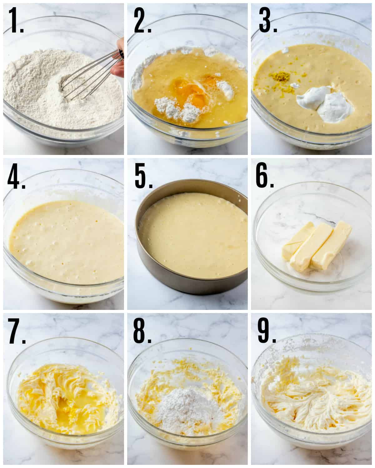 Step by step photos on how to make Lemon Layer Cake