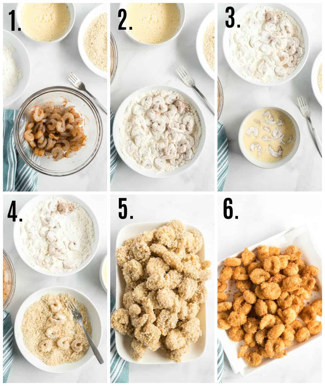 Step by step photos on how to make Fried Shrimp