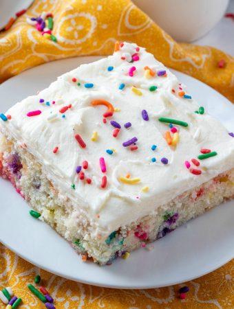 Square feature image of Funfetti Cake