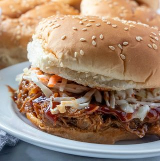 Featured square image of pulled pork on plate