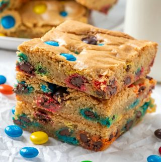 Square image of stacked Blondies