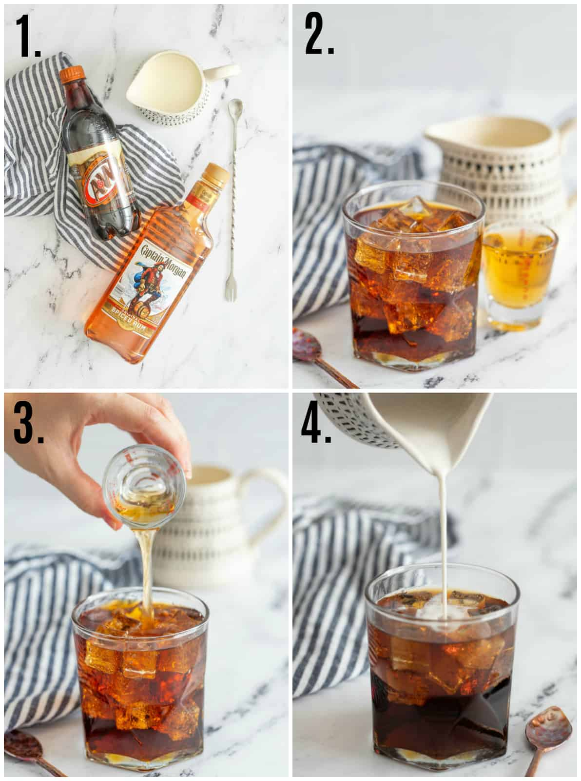 Step by step photos of Creamy Root Beer Rum Cocktail