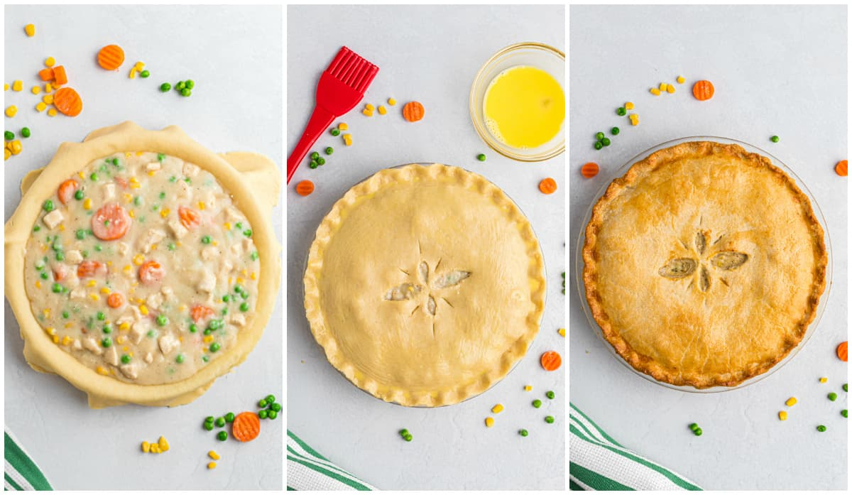 Step by step photos on how to make Chicken Pot Pie