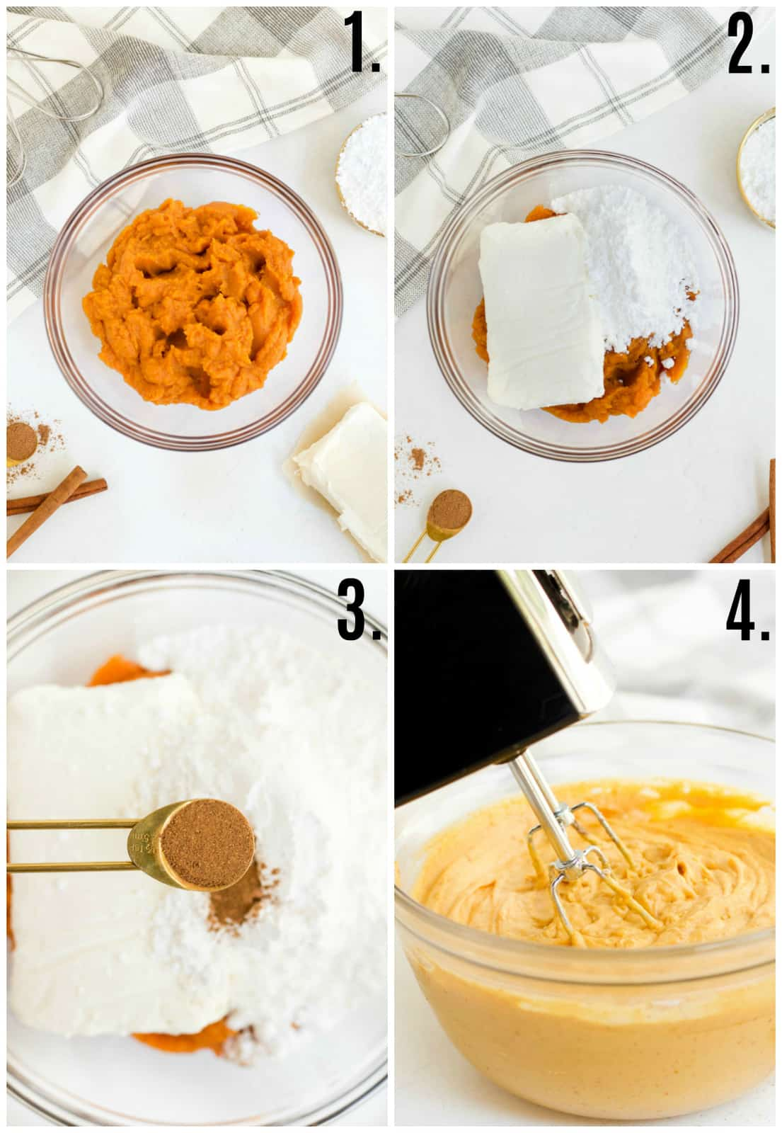 Step by step photos on how to make Pumpkin Dip