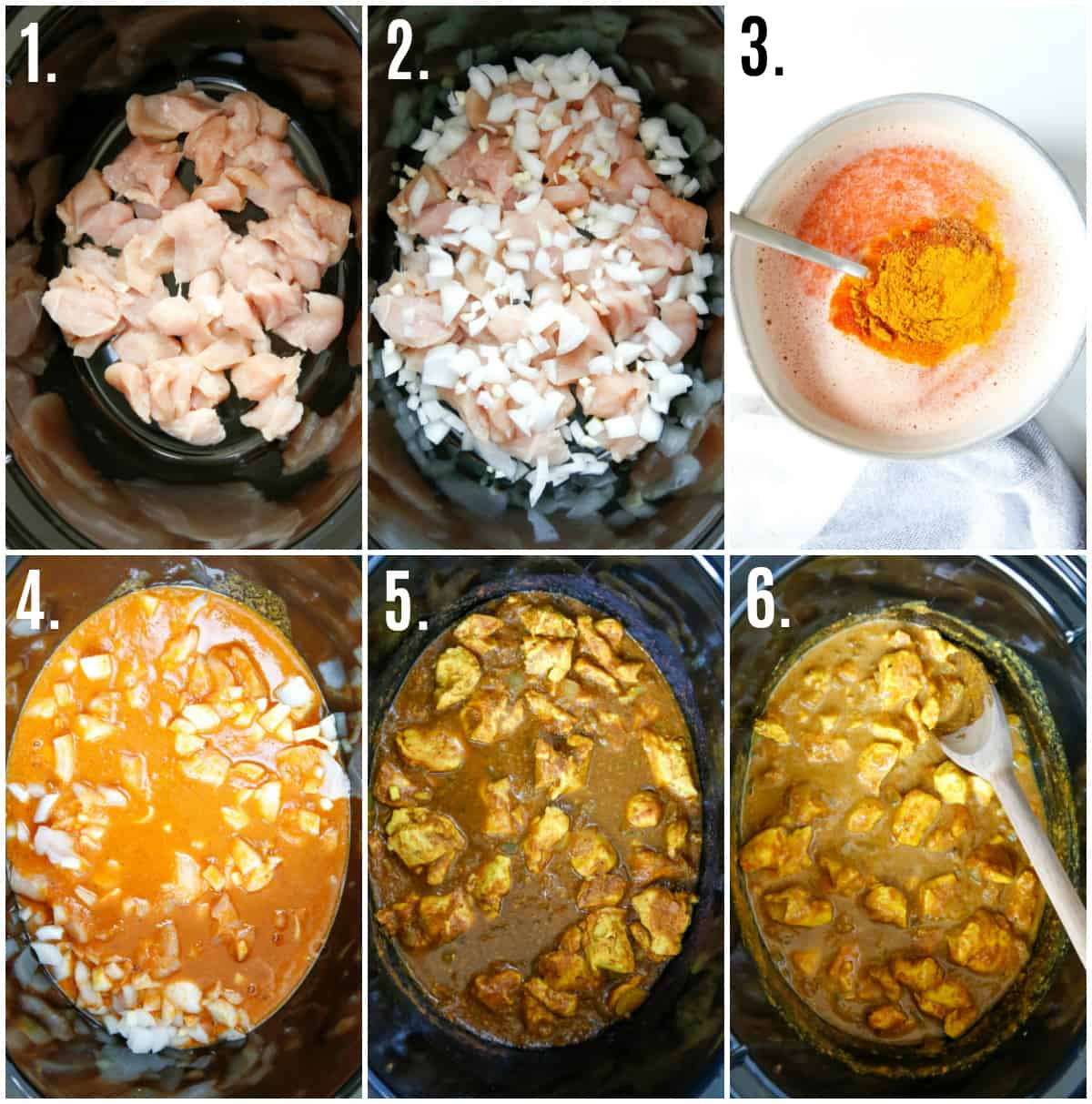Step by step photos on how to make Slow Cooker Indian Butter Chicken