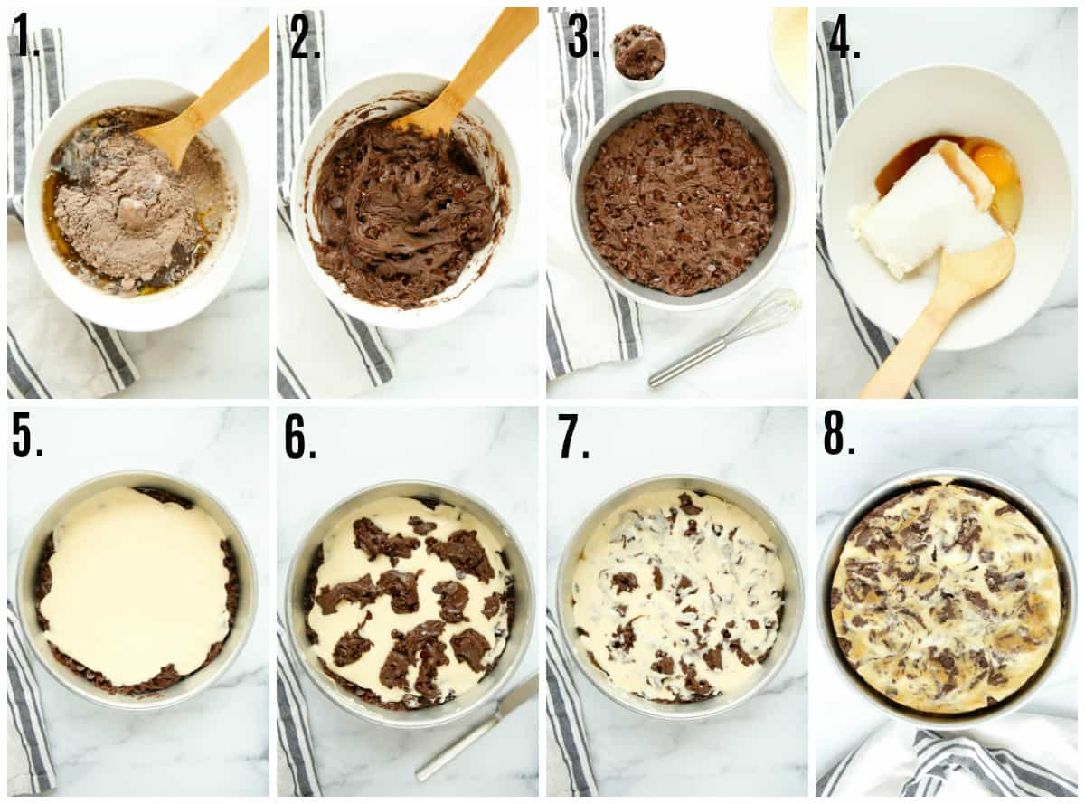 Step by step photos on how to make Brownie Cake