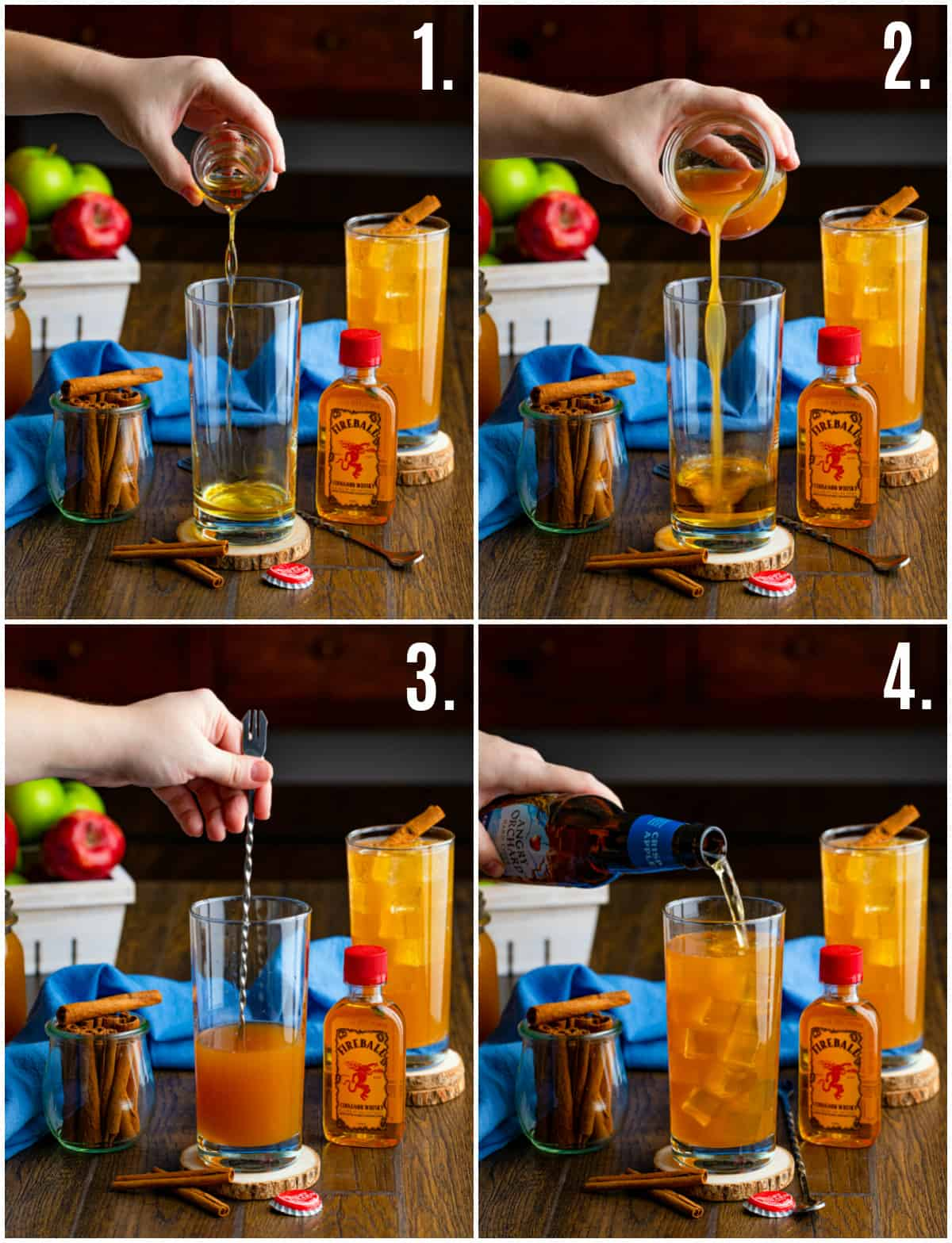 Step by step photos on how to make Fireball Hard Cider