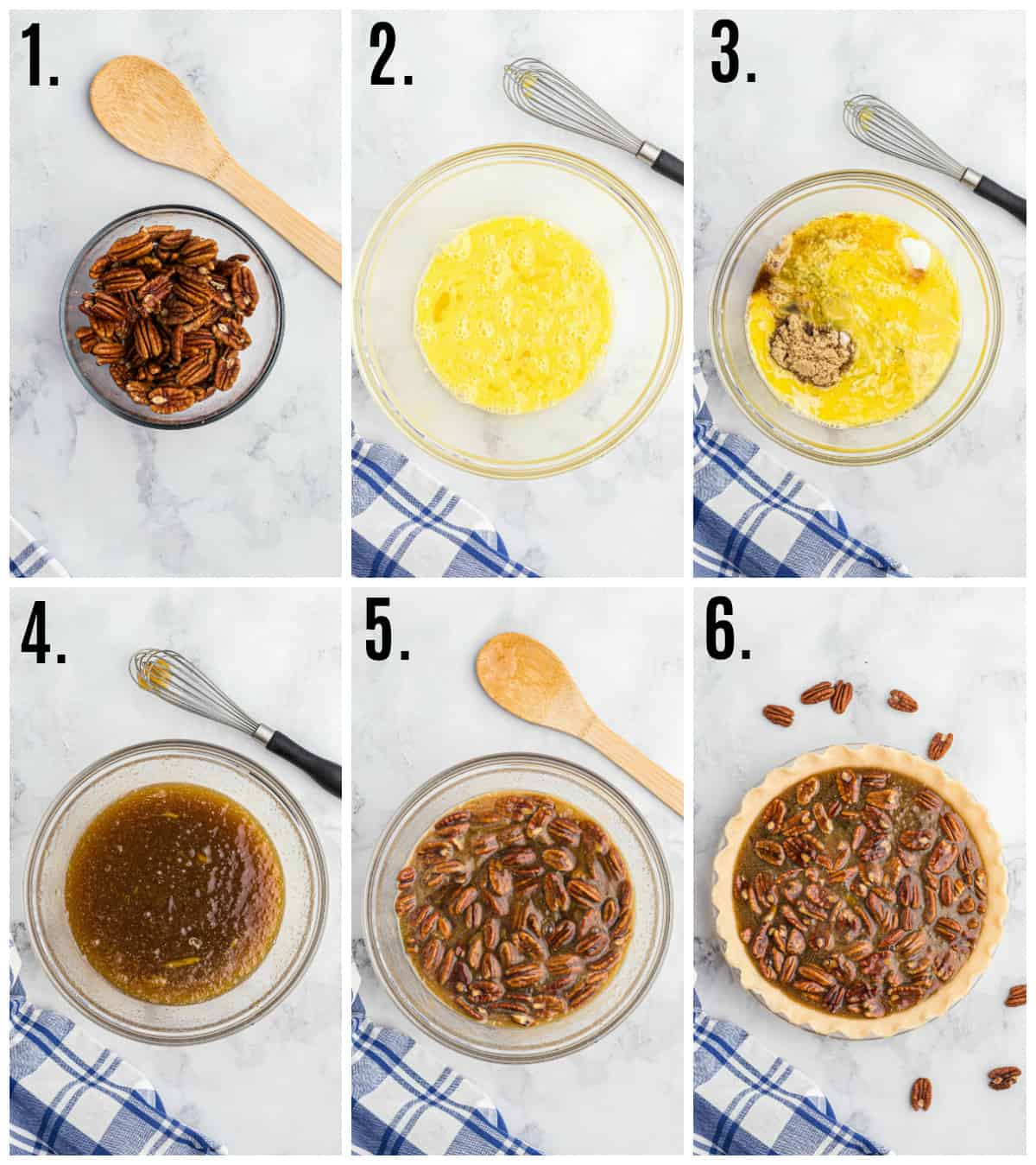 Step by step photos on how to make Bourbon Pecan Pie