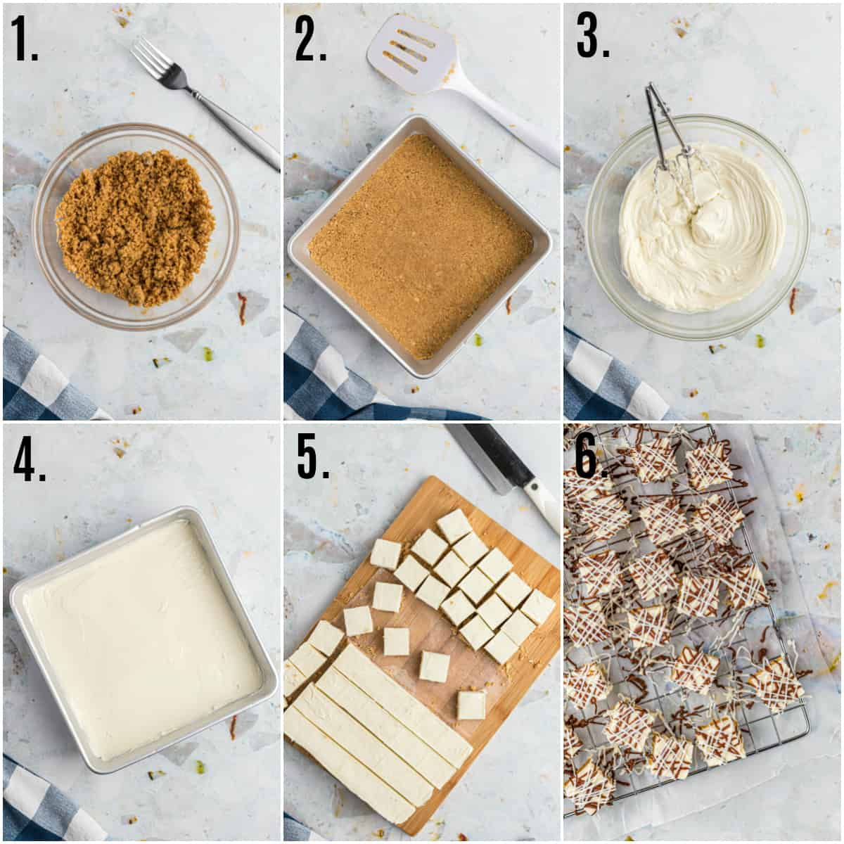 Step by step photos on how to make Cheesecake Bites