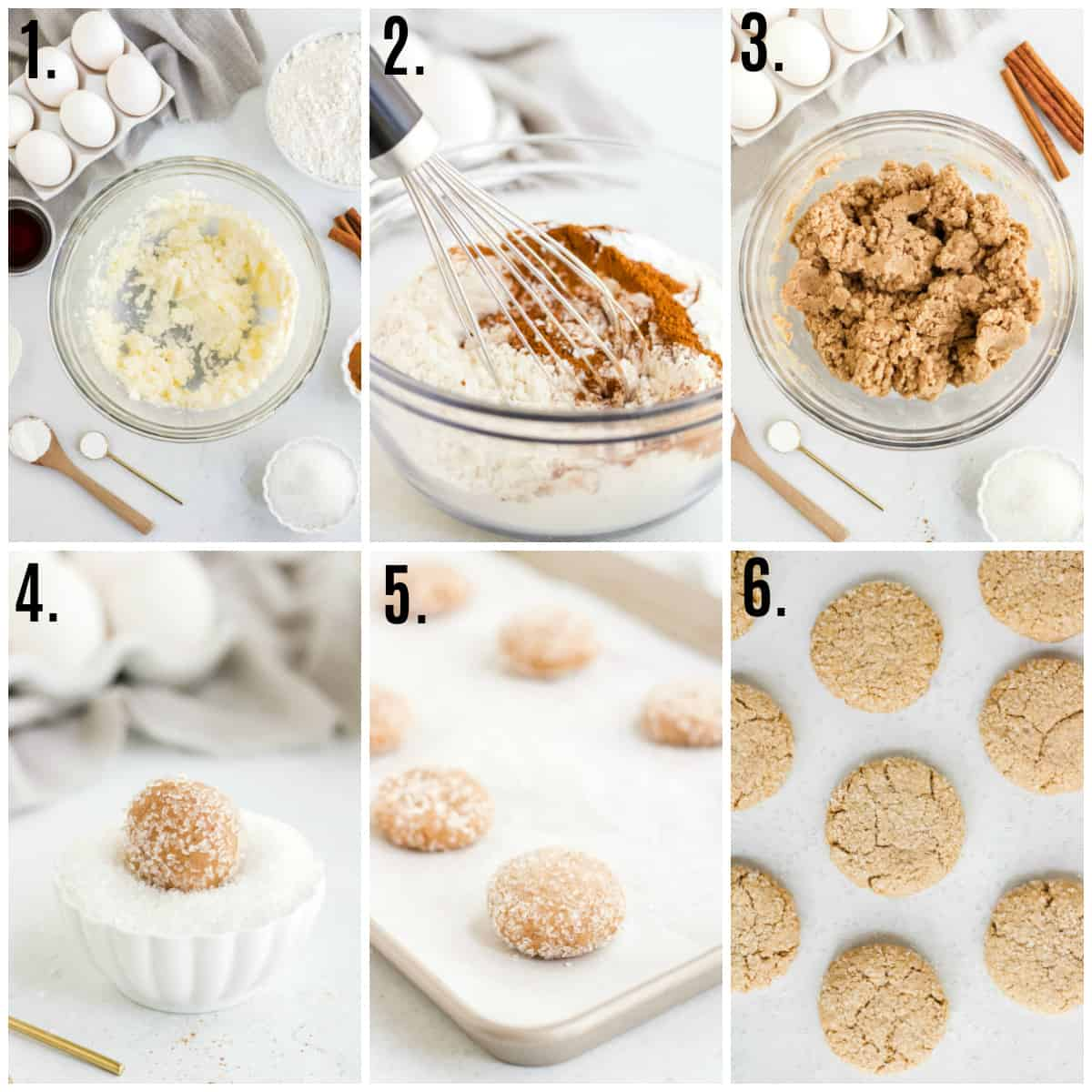 Step by step photos on how to make Spice Cookies