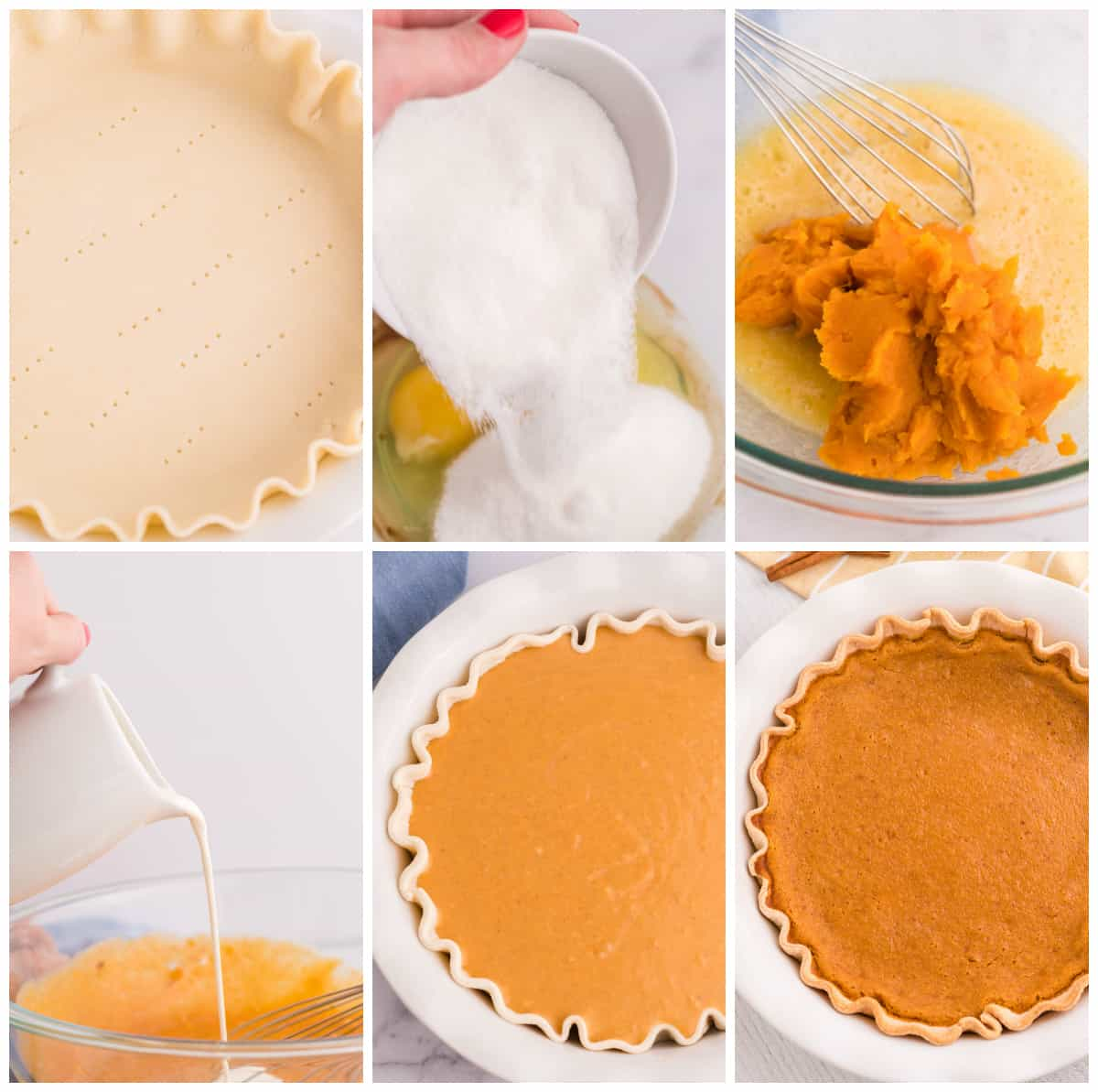 Step by step photos on how to make Sweet Potato Pie