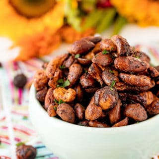 Close up of nuts in bowl