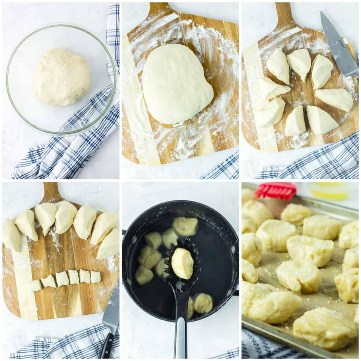 Step by step photos on how to make Pretzel Bites