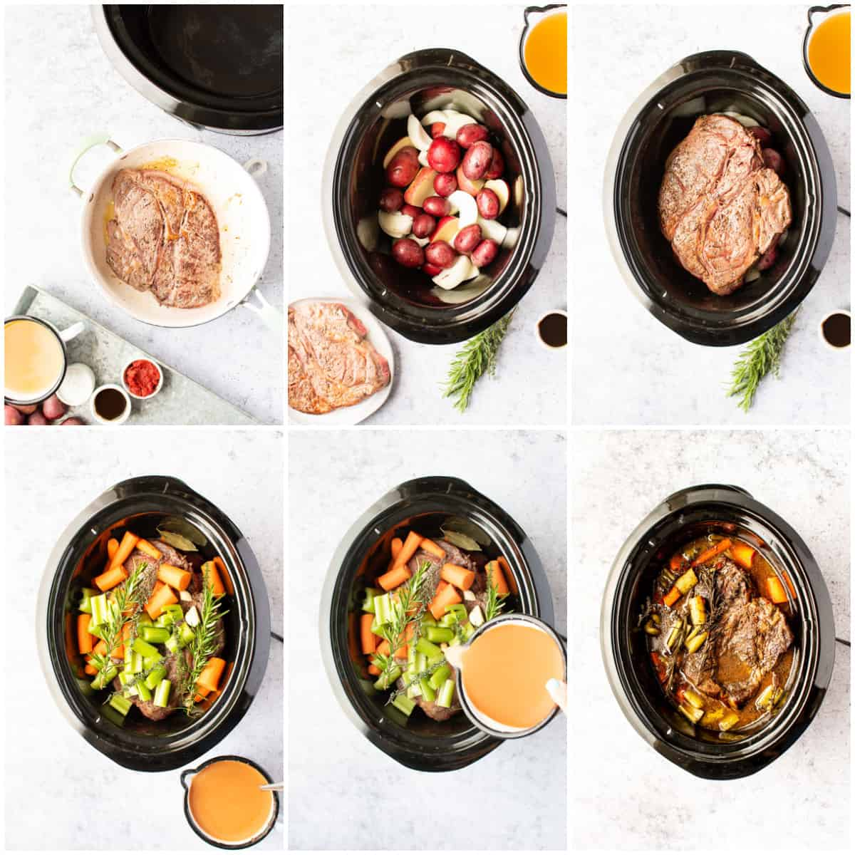 Step by step photos on how to make Slow Cooker Sunday Roast