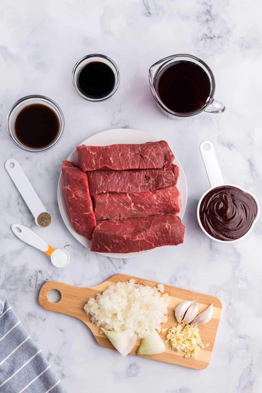 Ingredients needed for Slow Cooker Beef Short Ribs
