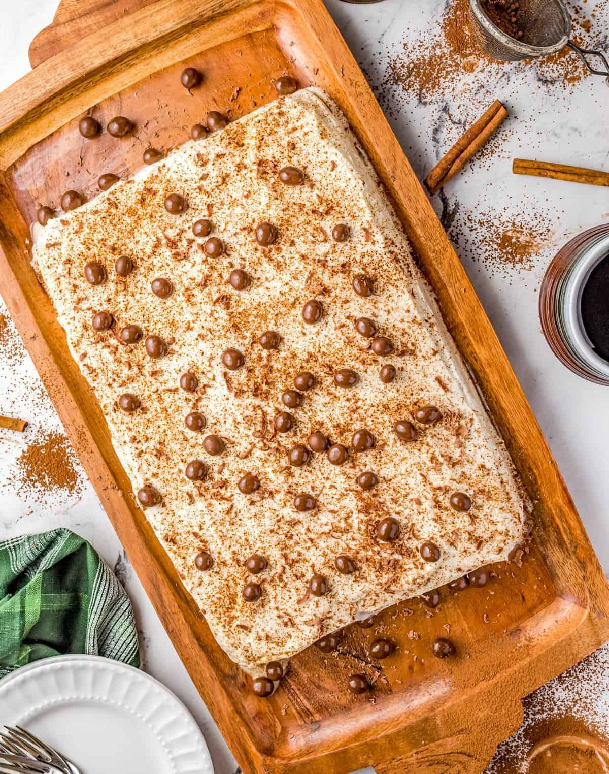 Overhead of Kahula Tres Leches Cake Recipe