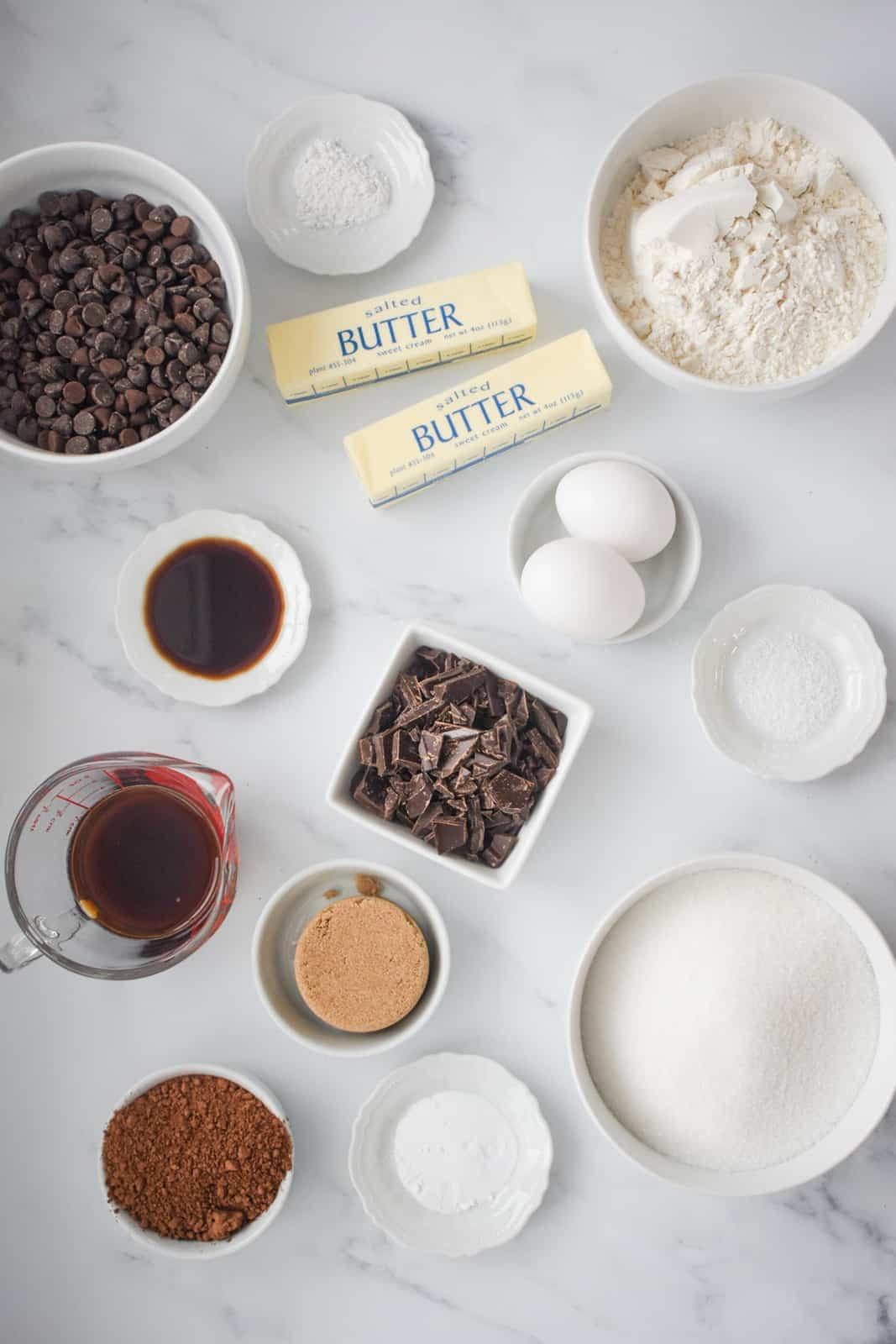 Ingredients needed to make Brookies