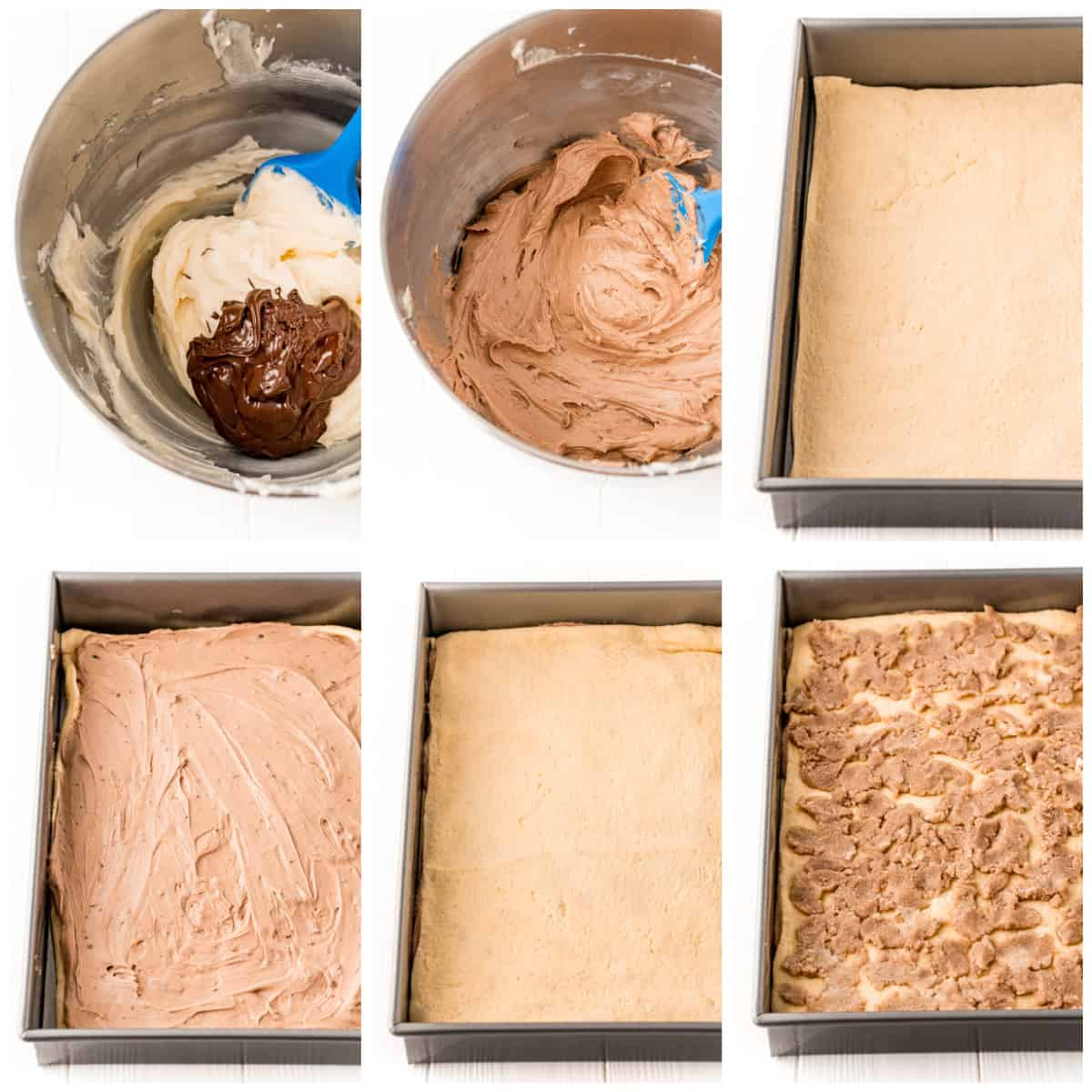 Step by step photos on how to make Cheesecake Bars